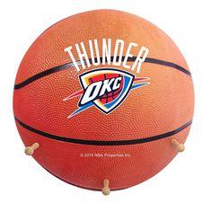 Oklahoma City Thunder Basketball Coat Hanger, Multicolor