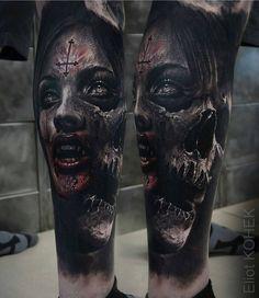 """Polubienia: 7,184, komentarze: 33 – Tattoo Realistic (@tattoorealistic) na Instagramie: """"Insane morph piece by @eliot.kohek from France."""""""