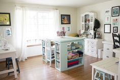 craft_room_workspace  -  would love this inspirational space, but where would I put my bed!