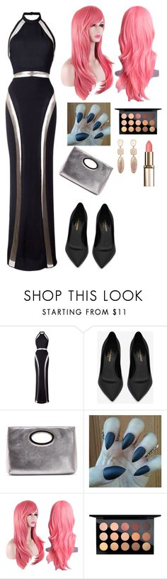 """Untitled #2595"" by vireheart ❤ liked on Polyvore featuring Balmain, Yves Saint Laurent, Donald J Pliner and MAC Cosmetics"