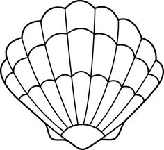 coloring pages - seashell drawing Lovely Zigzag Scallop Seashell Drawing Coloring Page Ocean Themes, Beach Themes, Templates Printable Free, Printables, Printable Paper, Mermaid Crafts, Online Coloring Pages, Shell Crafts, Stained Glass Patterns