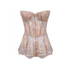 Agent Provocateur Adiyah Corset Nude-2 ($1,795) ❤ liked on Polyvore featuring intimates, shapewear, corset, corsets & basques, lingerie and nude