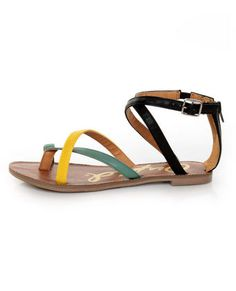 perfect strappy flats for this season's brights AND colorblock. can't beat that $25 price tag..
