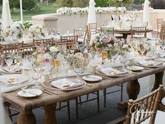 Reception tables, dinnerware, place settings, gold, plates, glasses, gold chairs, Marbella Country Club Wedding | San Juan Capistrano, CA - Gilmore Studios