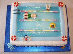 Swimming Pool Cake by GemCakes, via Flickr