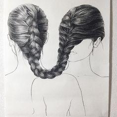 almost finished Siblings 50x62cm - #charcoal #drawing #frenchbraid #hair #illo #illustration #illustrator #illustrationart #illustrationartists #finearts #draw #drawingoftheday #artoftheday #art #artlife #artist #artofinstagram #instaart