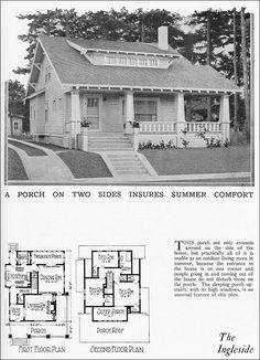 Foursquare Classic   Hewitt Lea Funck Co    Seattle   s     The Ingleside Bungalow   Radford House Plan   Home Builders Blue Book   Two