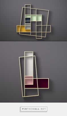 Oblique bookshelves… – a grouped images picture - Raumteiler