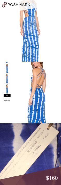 Indah Tamaa Cut Out Maxi Dress, NWT Indah, Tamaa Cut Out Maxi Dress, NWT. Color is Garis Blue. Simply Gorgeous!  Posh only🌺 tag: Jen's Pirate Booty Indah Dresses Maxi