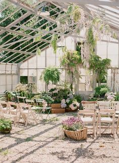 ceremony inside a greenhouse!