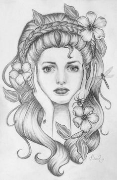 """Primavera"" pencil drawing. by Lindsay Beach."