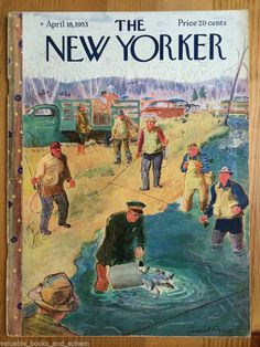 New Yorker Magazine 1953 Apr 18 Vintage Mid-Century Advertising Travel Airlines