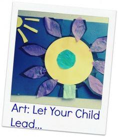 Art: Let your child lead #kidsart #kidscrafts
