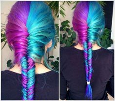 braid, mermaid, purple