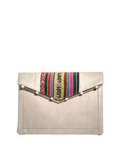 envelope clutch with embroidered detail