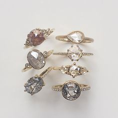 Alternative bridal  our Maia, Kepler, Lumen, Pera, Vega, Tidals and Horizon Rings #diamondring #engagementring #alternativebride #madeinnyc #valejewelry