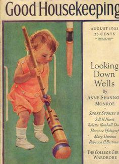 1933 Good Housekeeping August Last Jessie Willcox Smith Yankees Herb Pennock | eBay