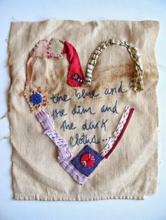 embroidery, heart, keats poem, One Bunting Away