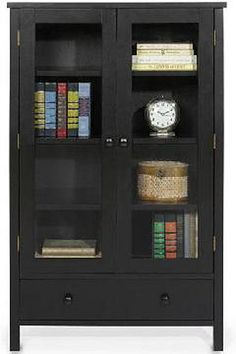 Shelf Bookcase With Glass Doors
