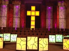 Church Stage Design Ideas For Cheap pvc sound wave church stage designs Black Electrical Tape Church Stage Design Ideas