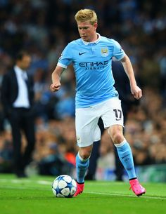 Kevin de Bruyne of Manchester City in action during the UEFA Champions League Group D match between Manchester City FC and Juventus at the Etihad Stadium on September 15, 2015 in Manchester, United Kingdom. (Sept. 14, 2015 - Source: Alex Livesey/Getty Images Europe)