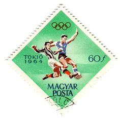Postage stamp, Hungary, Toyko games, 1964