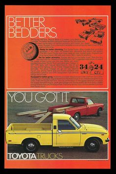 Classic Car News Pics And Videos From Around The World Tundra Trd, Sport Truck, Toyota Trucks, Japan Cars, Mini Trucks, Car Advertising, Old Ads, Twin Turbo, Concept Cars