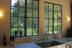 Spanish style homes – Mediterranean Home Decor Spanish Style Homes, Spanish Revival, Spanish House, Spanish Colonial, Upvc Windows, Windows And Doors, Huge Windows, Small Galley Kitchens, Spanish Kitchen