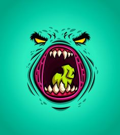 Daniel Ferenčak is a freelance illustrator, cartoonist and character designer from Slovenia. Here's a few monster faces that he designed and mostly - posted under by Fribly Editorial Graffiti Doodles, Graffiti Lettering, Illustration Main, Character Illustration, Character Art, Character Design, Graffiti Characters, Monster Face, Sprites