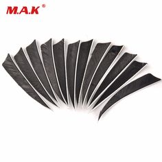 12pcs/lot Black 4 inch Turkey Feather Real Arrow Feather Vans For DIY Archery Arrows. Yesterday's price: US $5.19 (4.25 EUR). Today's price: US $4.93 (4.04 EUR). Discount: 5%.