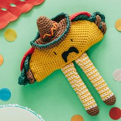 Sometimes you just have to say YES to things—like when it comes to stitching this taco character. Maybe you should stitch it in celebration of Cinco de Mayo.