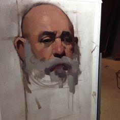 Full shot of today's workshop demo @numuatelier . Oil on #archesoilpaper #zornpalette #portrait #allaprima