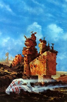 "Chris Foss, Art for ""City of Illusions"" by Ursula K. LeGuin (Panther, 1976)"