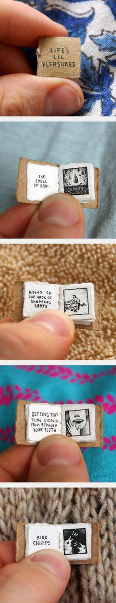 Funny pictures about Life's Lil Pleasures By Evan Lorenzen. Oh, and cool pics about Life's Lil Pleasures By Evan Lorenzen. Also, Life's Lil Pleasures By Evan Lorenzen photos. Fun Crafts, Diy And Crafts, Arts And Crafts, Paper Crafts, Diy Paper, Little Presents, Handmade Books, Handmade Journals, Handmade Rugs