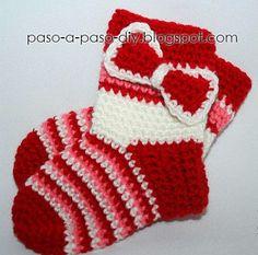 Tutorial en fotos de cómo tejer medias o calcetines con crochet