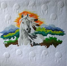 Cherokee Dreams ~ Wow!  What a gorgeous piece of art.  The quilting is exquisite.