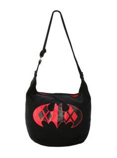DC Comics Batman Harley Quinn Logo Hobo Bag