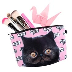 Pink Cat Makeup Bag