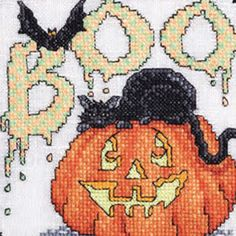 Boo, free from Just Cross Stitch