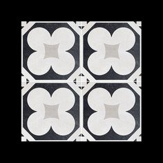 #Cementine #Black & #White Series - #b&w_4 #8x8 #Porcelain #Tile #pattern example - available from #MidAmericaTile