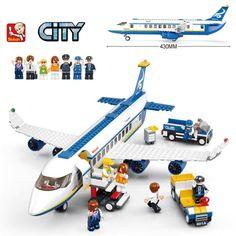 27.25$  Watch now - http://aliw0j.shopchina.info/1/go.php?t=32291318582 - 483pcs Airplane Sluban B0366 Construction Eductional Bricks Building Blocks Sets Aviation Series Airbus Aircraft Children Toys  #magazine