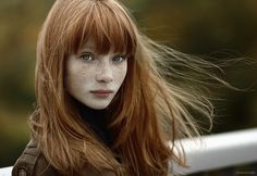 natural red hair green eyes - Google Search