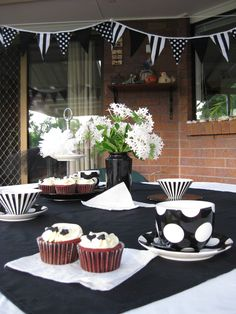 My Black and White Tea Party.