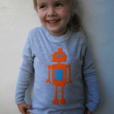 i just bought this - Robot Childrens T shirt