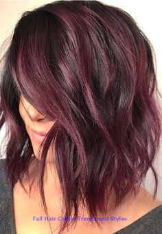 34 Latest Hair Color Ideas for 2019 - Get Your Hairstyle Inspiration for Next Se. - 34 Latest Hair Color Ideas for 2019 – Get Your Hairstyle Inspiration for Next Season – Latest H - Hair Color Shades, Hair Color Purple, Fall Hair Colors, Brown Hair Colors, Hair Color Ideas, Hair Colour Trends, Red Hair On Brown Skin, Deep Burgundy Hair Color, Black Cherry Hair Color