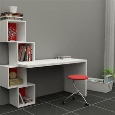 19 Ideas for bedroom desk study Bedroom Furniture, Home Furniture, Furniture Design, Furniture Plans, Study Table Designs, Bedroom Desk, Home Office Design, Room Decor, Shelves