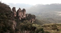 View: The Three Sisters; Blue Mountains, Katoomba, New South Wales