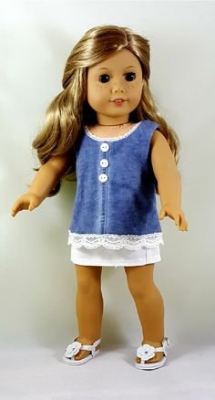 White Lace Up Boots 6 in Doll Clothes Fits Mini American Girl