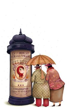 Here is inspiration from Marie Desbons to me to you. If that makes any sense. But upon my many searches over the vast internet, I find l. Umbrella Art, Under My Umbrella, Edition Jeunesse, Rain Art, Buch Design, Beatrix Potter, Children's Book Illustration, Red Riding Hood, Caricatures