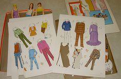 Partridge Family Paper Dolls Vintage
